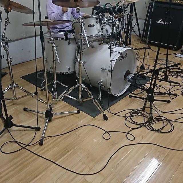 引山店です!今からドラムレコーディングします! #スタジオ #リハーサルスタジオ #名古屋 #千種区 #名東区 #守山区 #尾張旭 #瀬戸 #レコーディングスタジオ #リハスタ #引山 #バンド #音楽 #音楽好きな人と繋がりたい #楽器店 #楽器修理