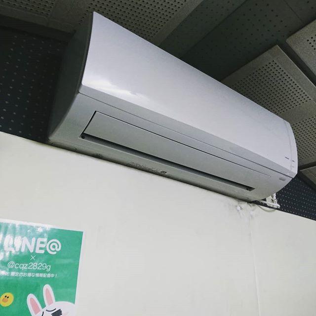引山店です!Bスタのエアコンが新しくなりました!まだまだ暑いですので故障してから大変お待たせいたしましたが是非ご利用ください!
